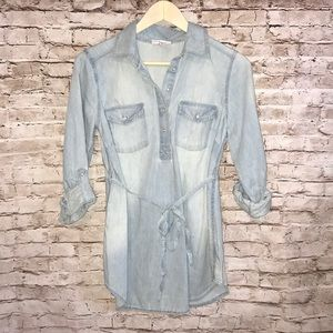 LIZ LANGE MATERNITY DENIM SHIRT SIZE SMALL